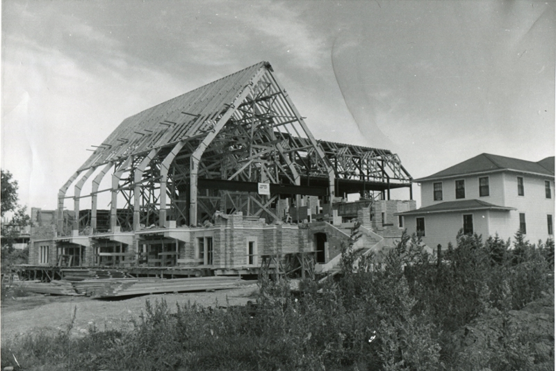 Stone building construction from 1953-1956